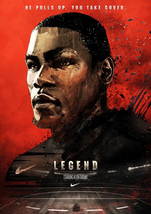 nike basketball posters on behance