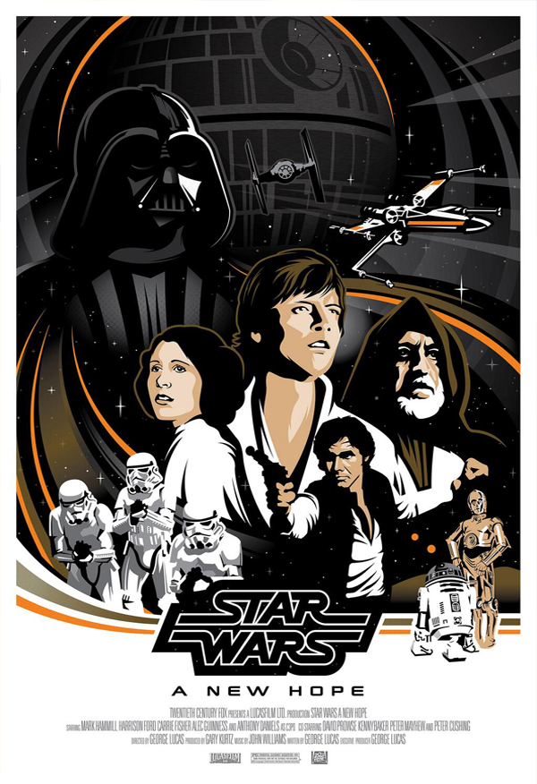 star wars a new hope poster on behance