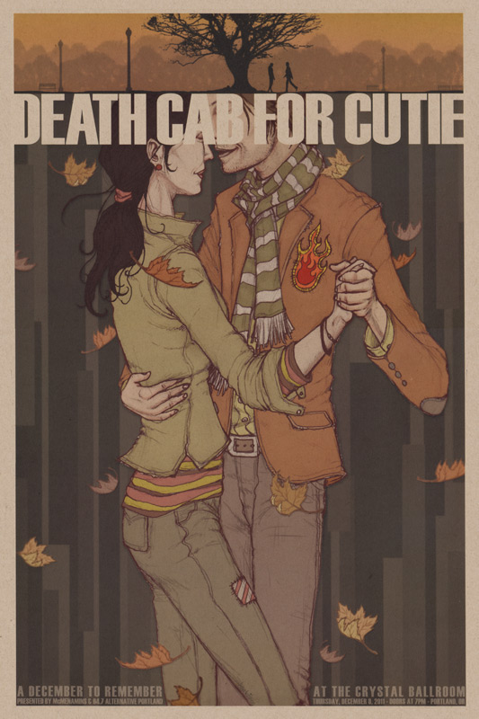 death cab for cutie concert poster on