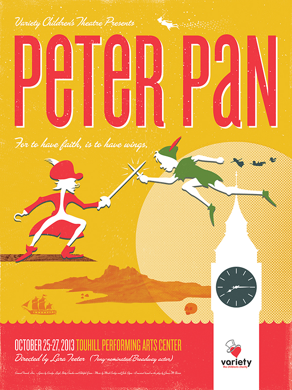Peter Pan Poster Concept - Variety Children's Theatre on ...