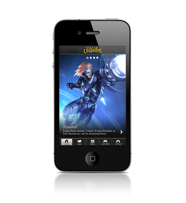 Riot Games Mobile iPhone App on Behance We worked with Riot Games to design companion app for their League of  Legends eSport game