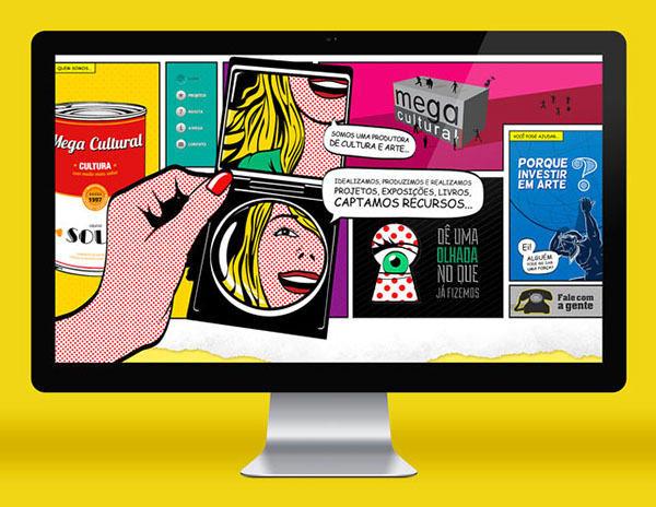 Mega Cultural – new website & cards on Behance