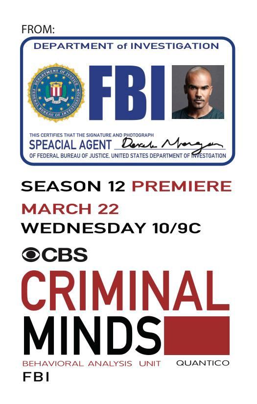 poster for criminal minds on behance