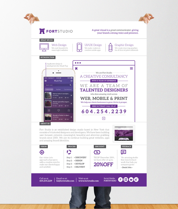 design services flyer poster template