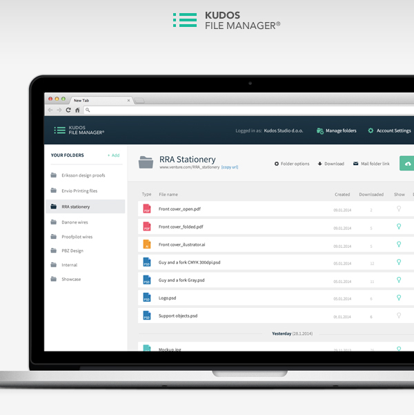 Kudos File Manager Web App on Behance
