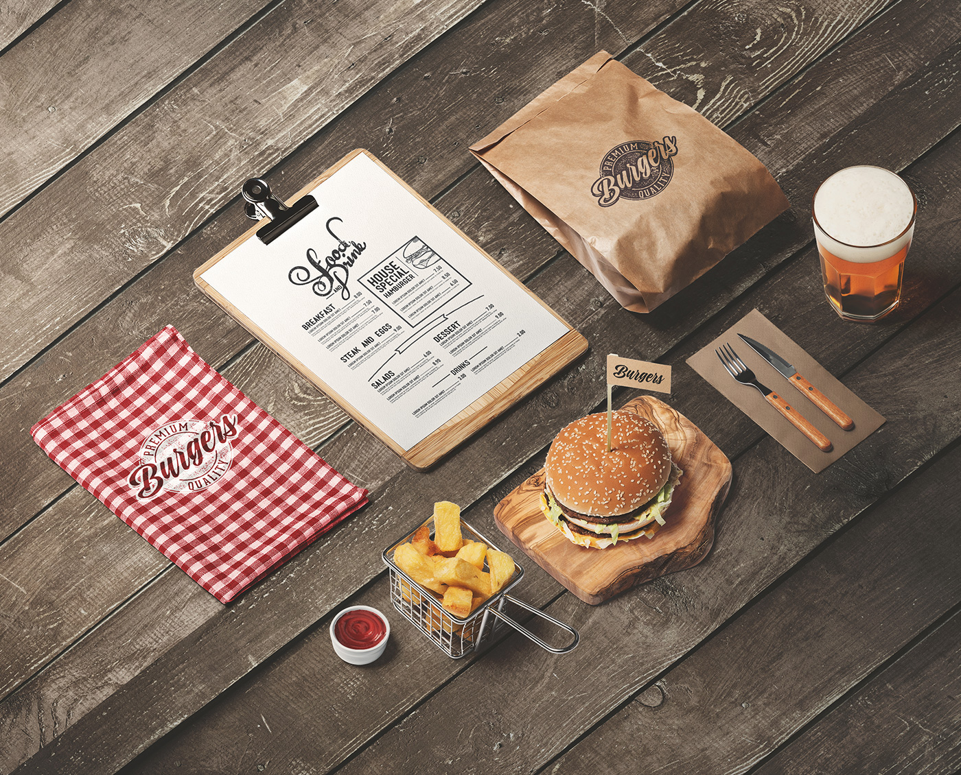 Not many would resist feasting on a big juicy burger. Burger Store Mockup Creator On Behance