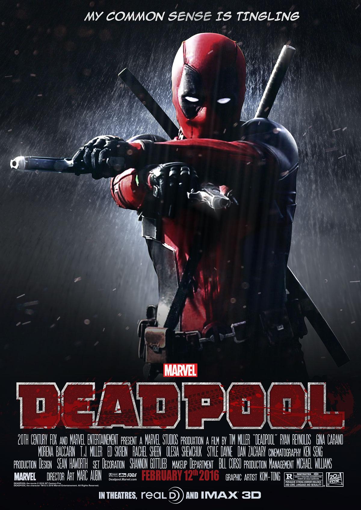 deadpool movie poster on behance