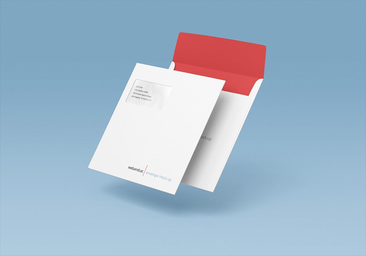 Square Envelope Mock-up on Behance