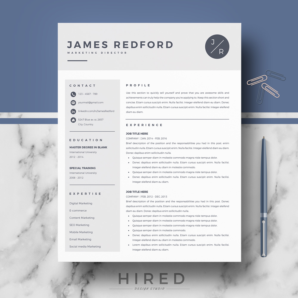 It's everything you need in a resume. Professional Resume Template For Mac Pages And Word On Behance