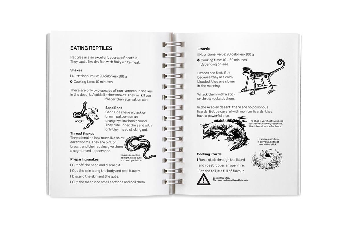 Land Rover Desert Edible Survival Guide On Behance