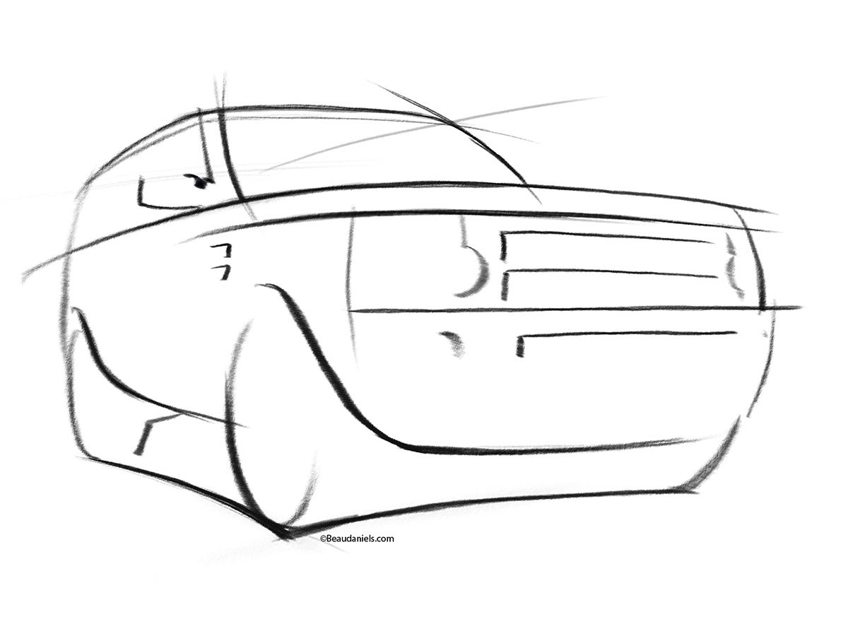 Land Rover Illustrations On Behance