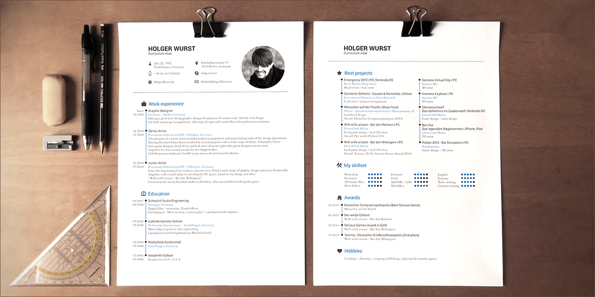 CV   Resume   Cover Letter Template  PSD AI  on Behance Download            Download