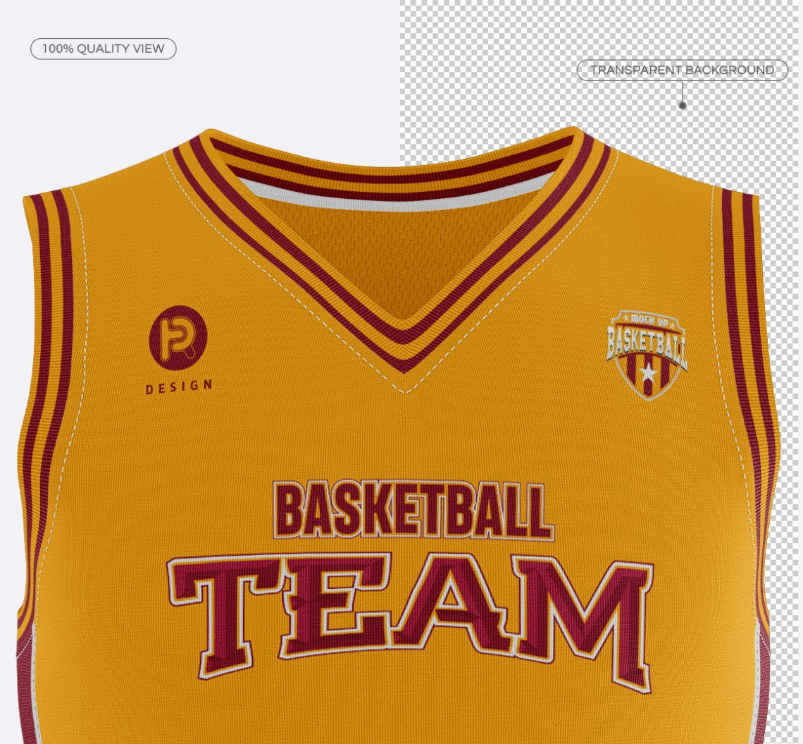 Download Basketball Jersey with V-Neck Mockup on Behance