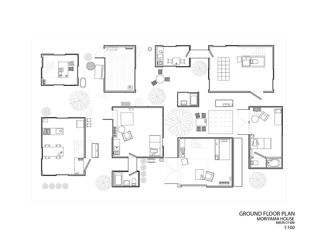 Precedent Study Moriyama House On Behance