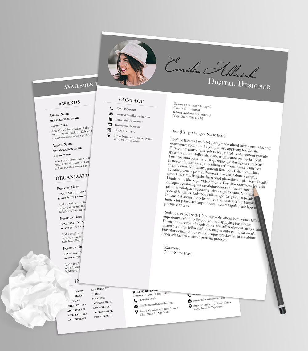 Our editable sorority resume templates can be customized using microsoft word. Elegant Color Block Resume Template No 1 On Behance