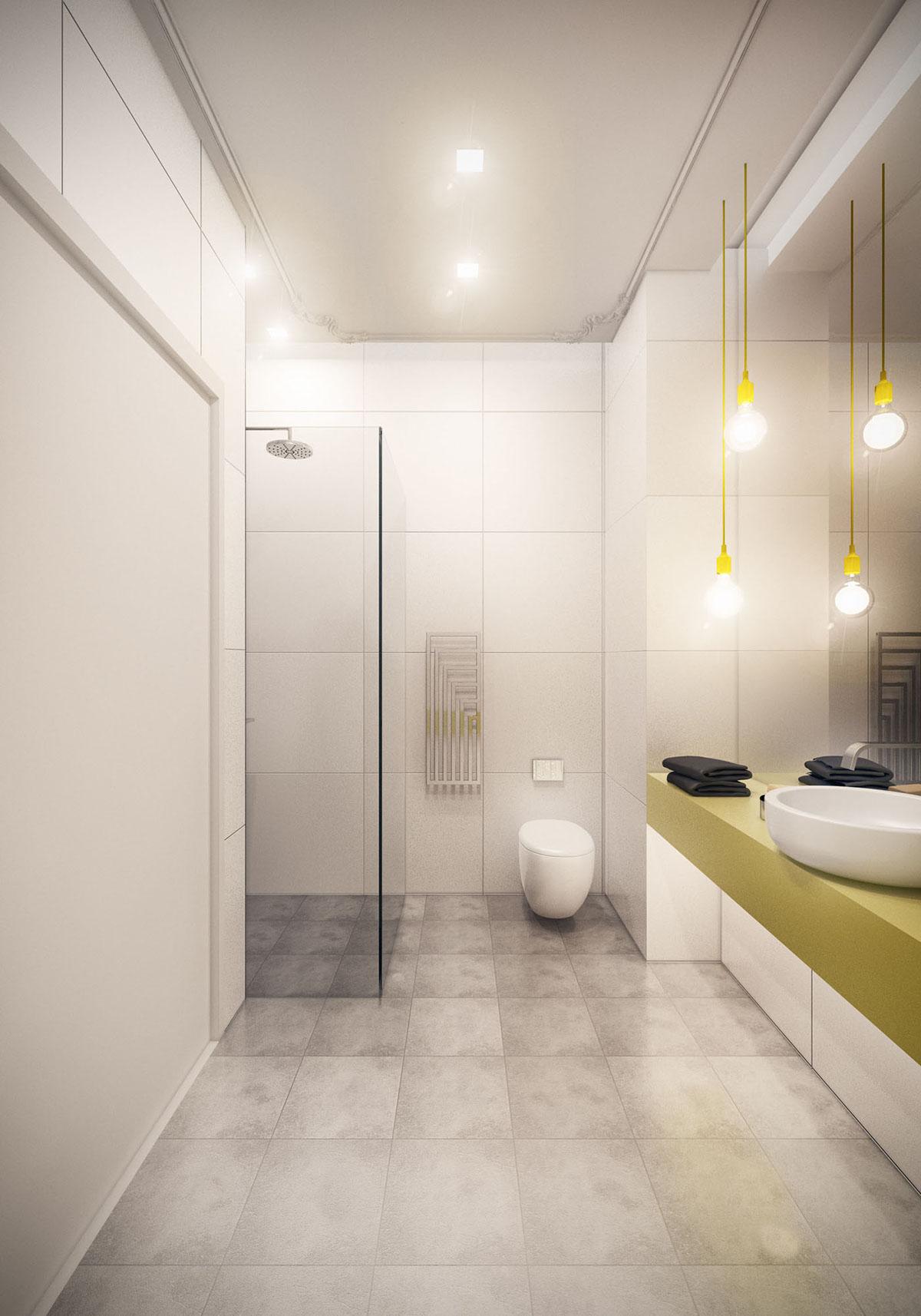 Bathroom of small modern apartment 1 on Behance on Small Apartment Bathroom  id=41401