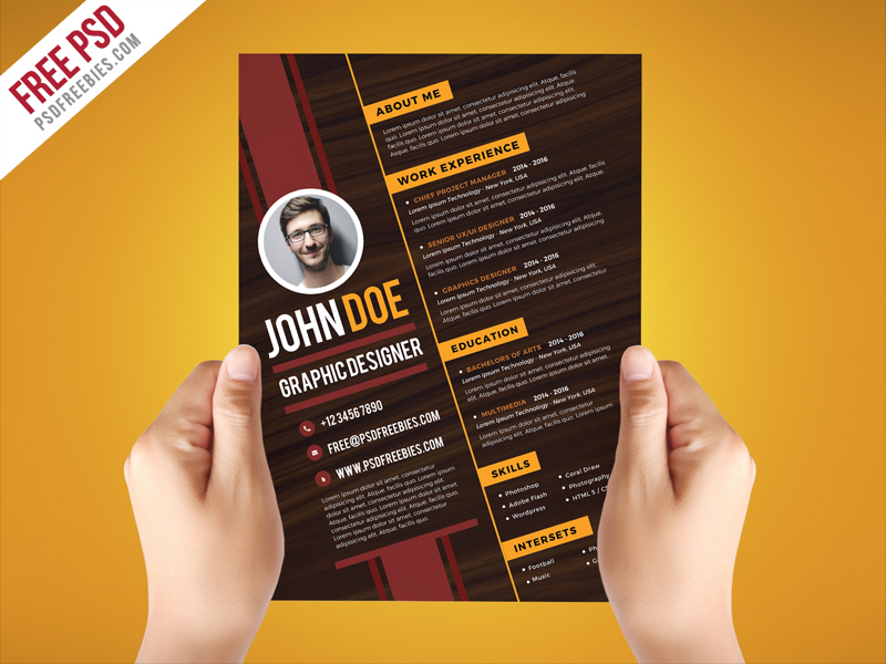 Graphic designers create many types of artwork in the business world. Free Psd Creative Graphic Designer Resume Template On Behance