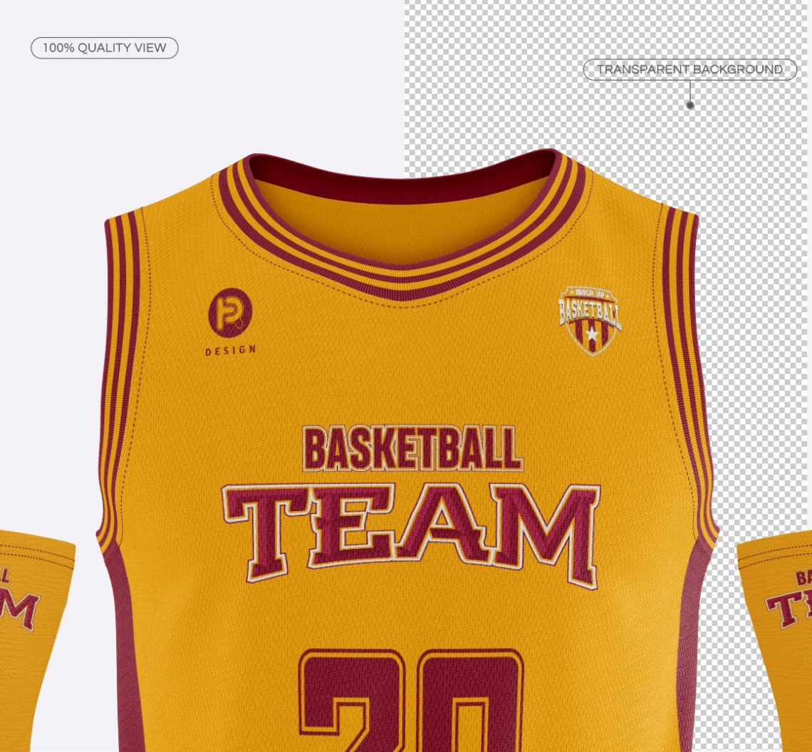 Download Men's Full Basketball Kit Crew-Neck Jersey Mock up on Behance