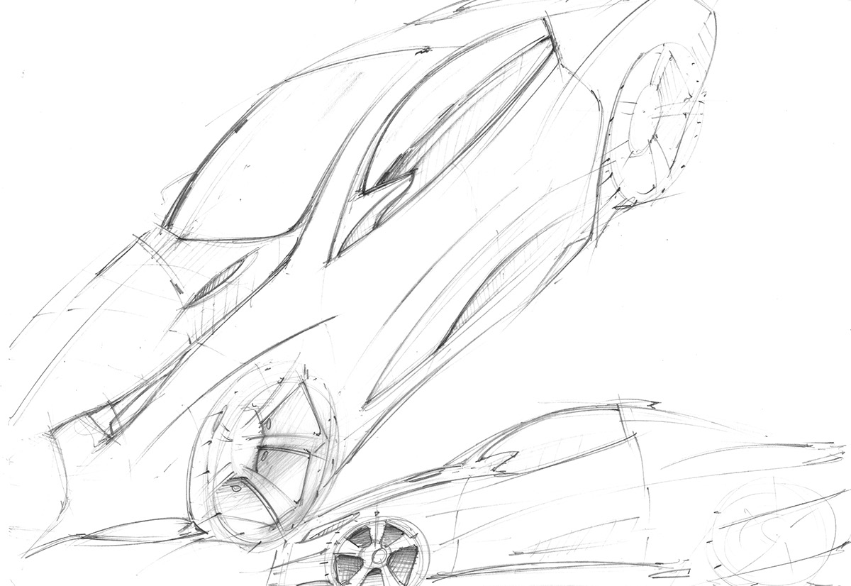Car Concept Sketches And Ideas On Behance