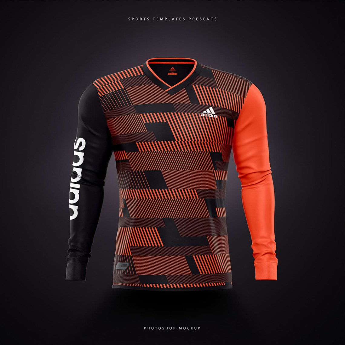 Download Adidas Football / Soccer shirt builder PSD template on ...