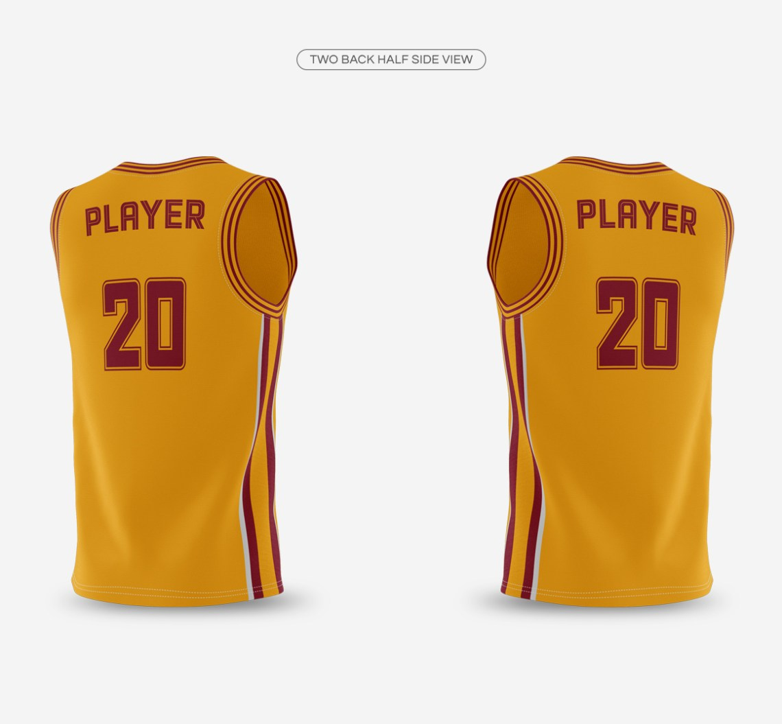Download Basketball Jersey with Crew-Neck Mockup on Behance