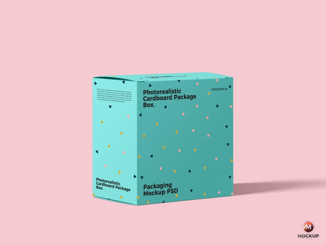 Download Free Photorealistic Cardboard Package Box Mockup PSD on ...