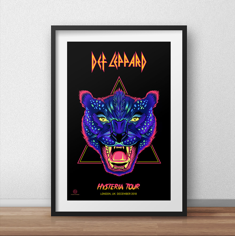 def leppard tribute poster on behance
