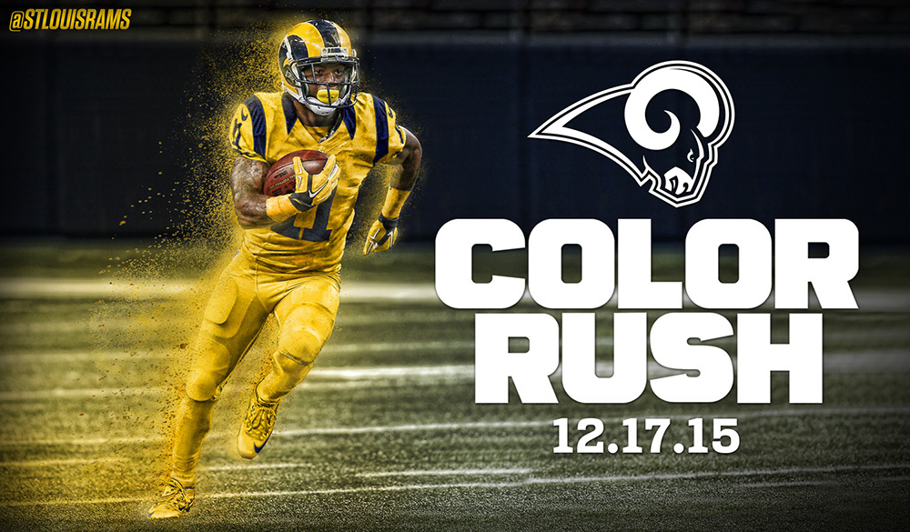 St Louis Rams Color Rush Launch On Behance