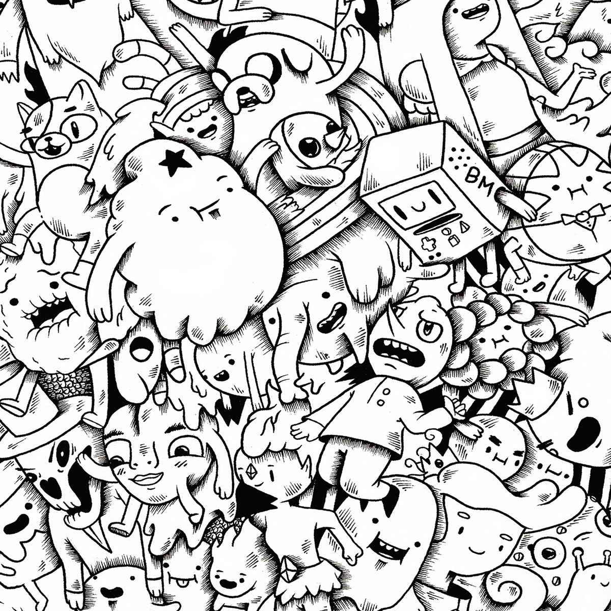 Adventure Time Doodle On Behance