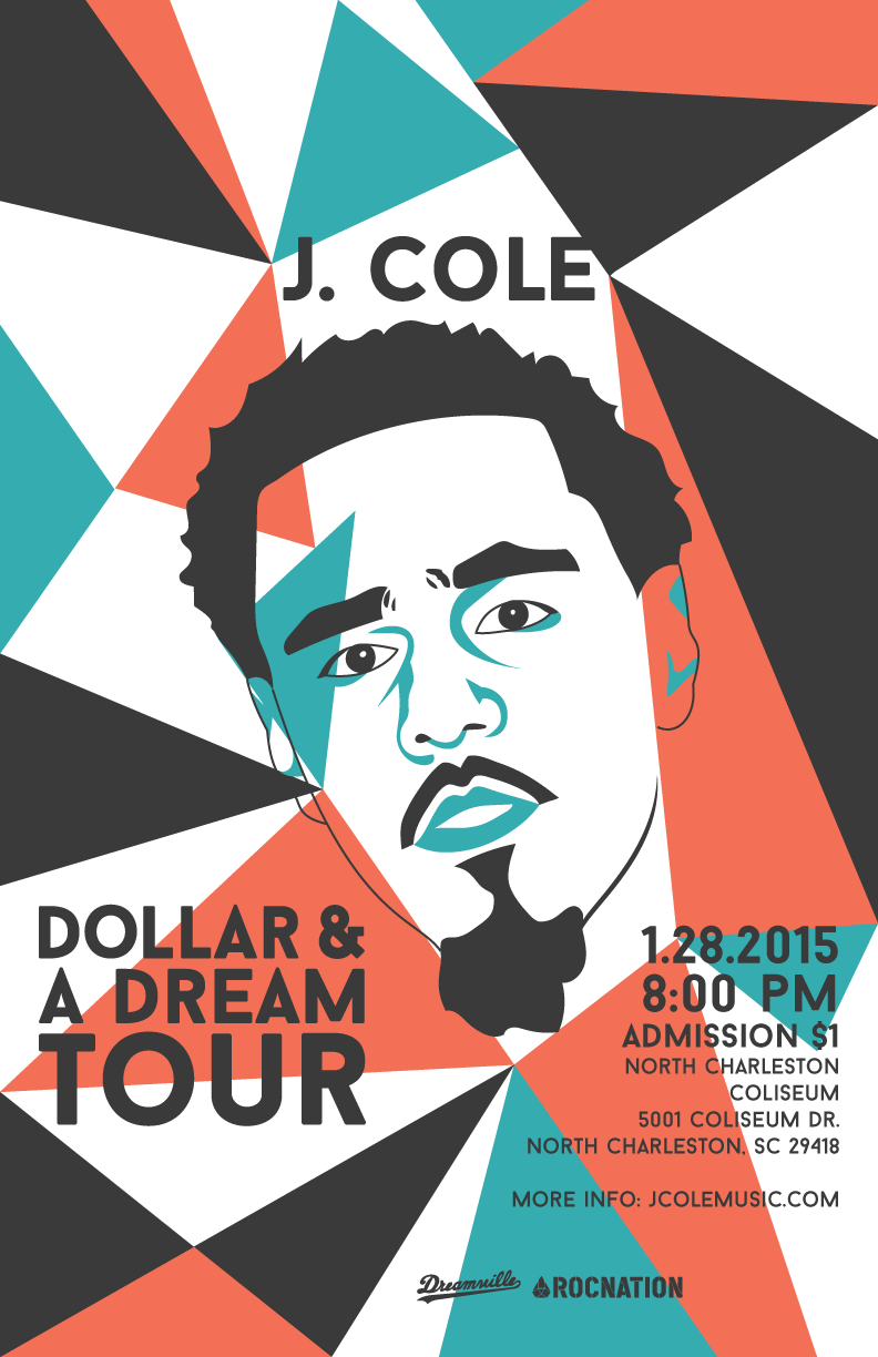 j cole posters on behance