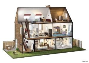 Lloyds House  Cutaway Illustration on Behance