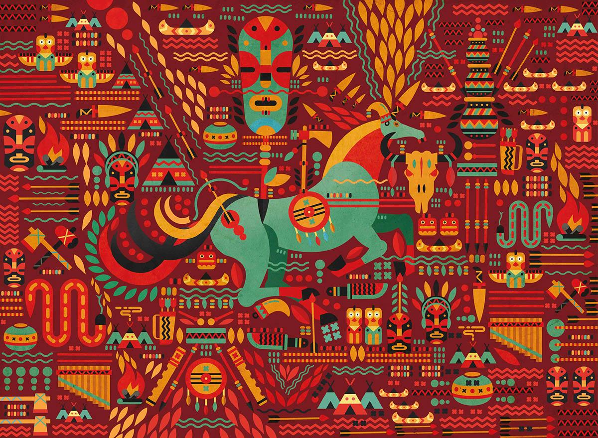 Tribal Art Laptop Sleeve Test For Chumbak On Behance