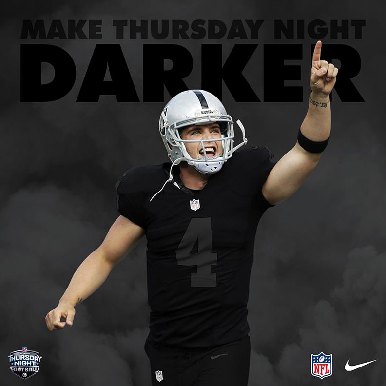 Nike 2018 Oakland Raiders Color Rush Blackout On Behance