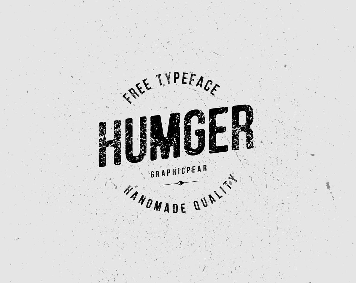 Humger Free Font On Behance