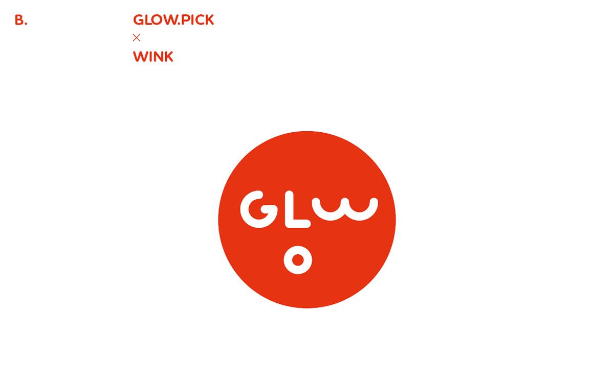 Glowpick rebranding proposal on Behance