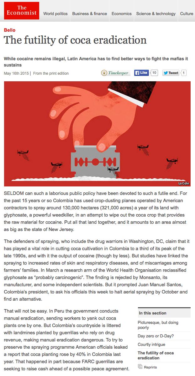 The futility of coca eradication on Behance