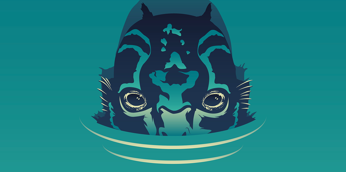 the shape of water poster art on behance