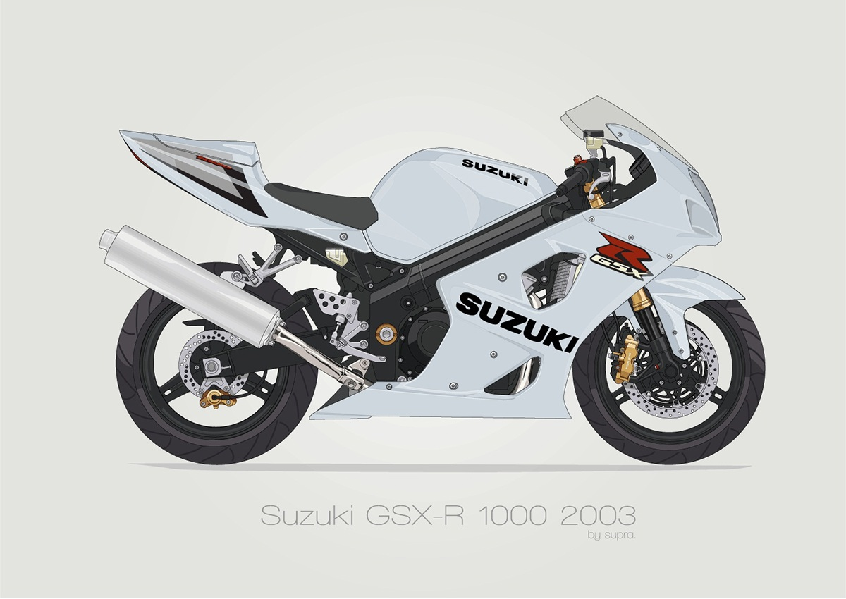 Suzuki Gsxr K3 K4 On Behance