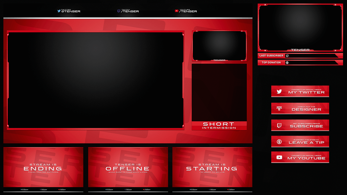 Twitch Livestream Designs (Stream Packages/Overlays) on Behance