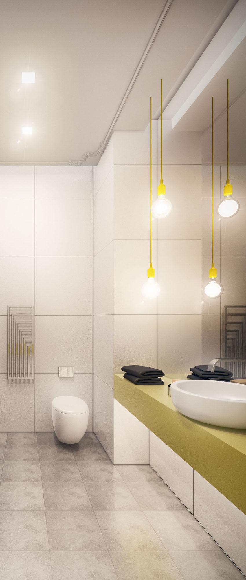 Bathroom of small modern apartment 1 on Behance on Small Apartment Bathroom  id=23624