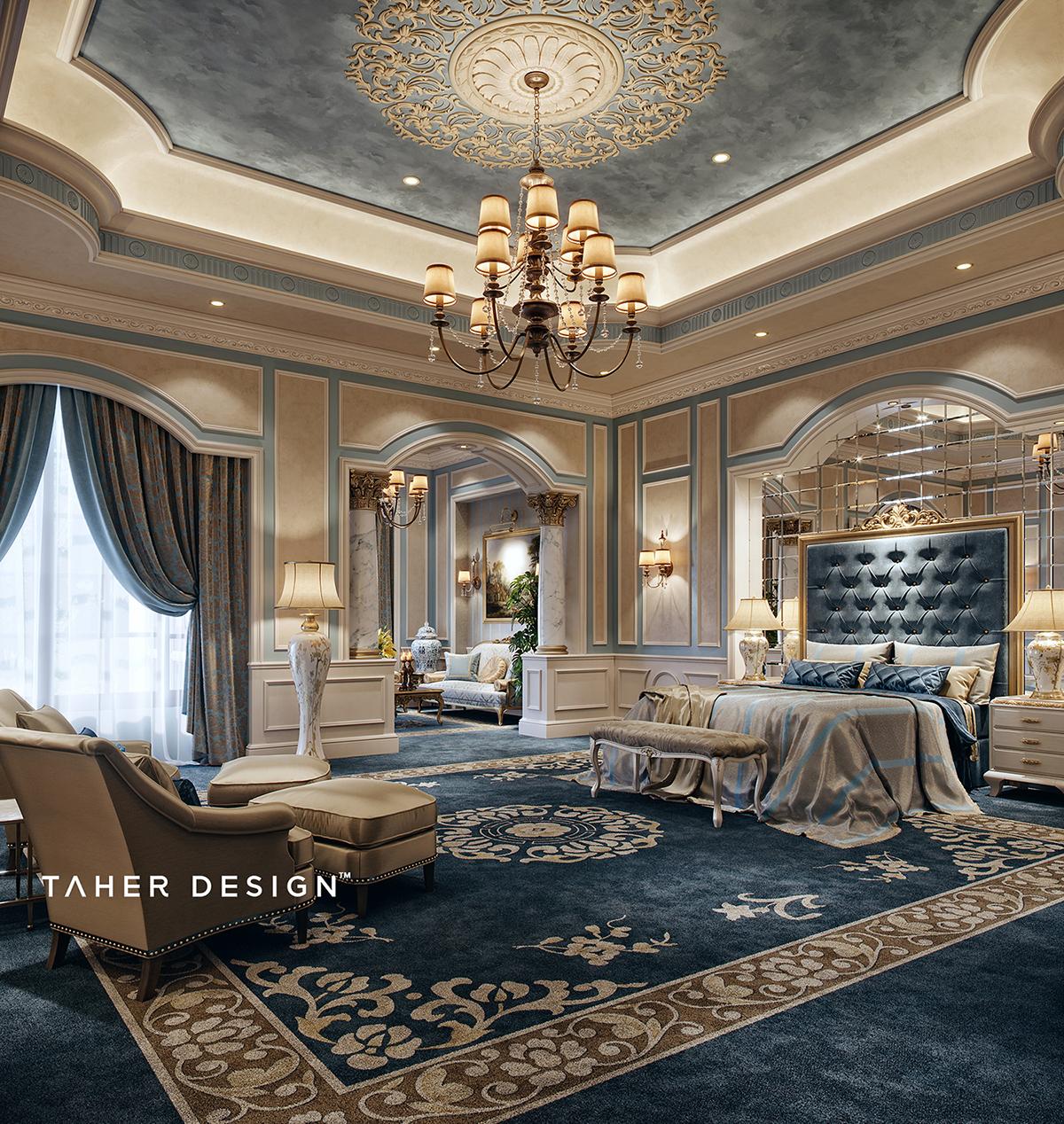 """Luxury Master Bedroom """" Dubai"""" on Behance on Luxury Master Bedroom  id=24456"""