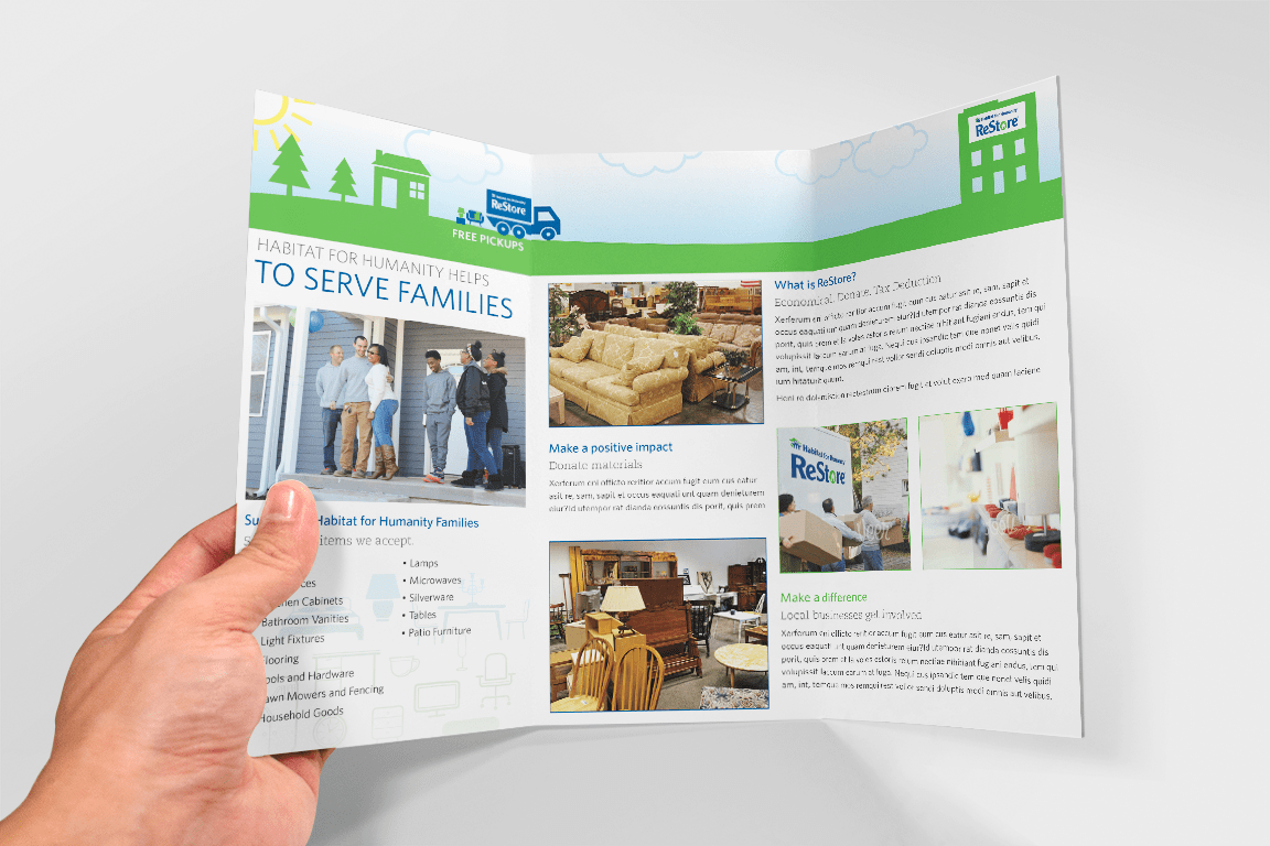 Habitat For Humanity Trifold On Behance