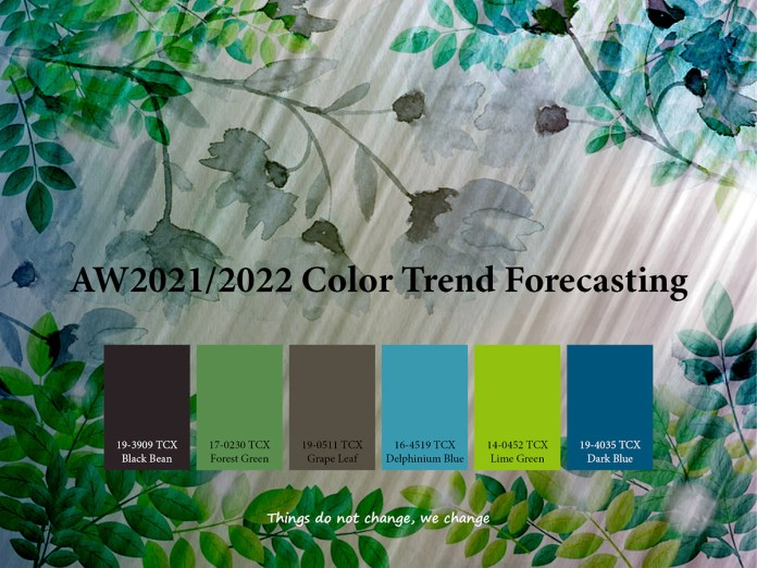 AW2021/2022 Trend forecasting on Pantone Canvas Gallery