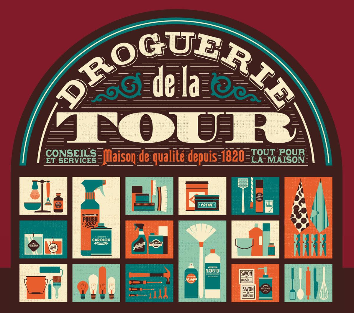 Droguerie De La Tour On Behance