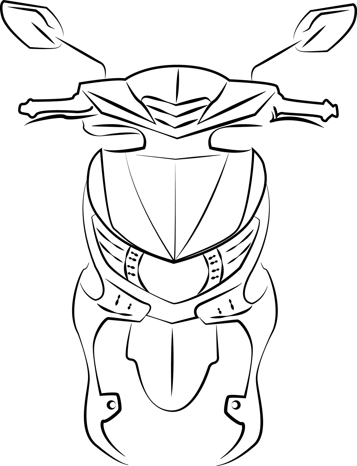 Tracing Motorcycle On Behance