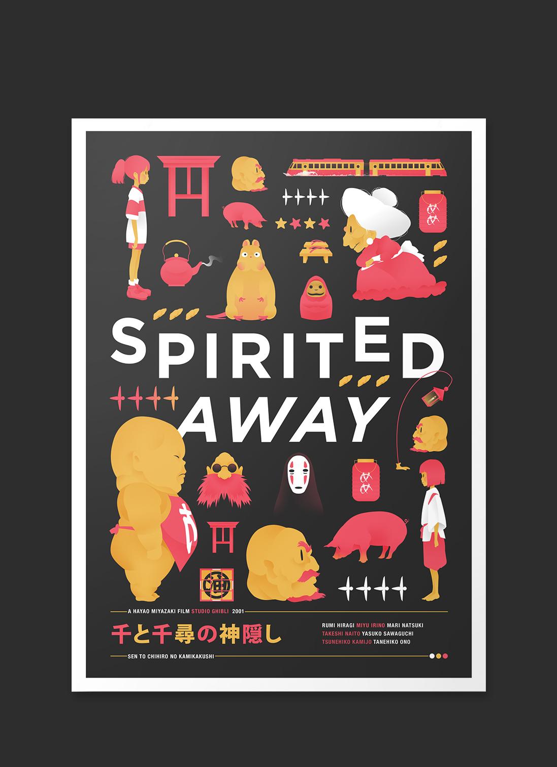 spirited away poster on behance