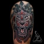 Erwin S Tribal Lion Thigh Tattoo On Behance