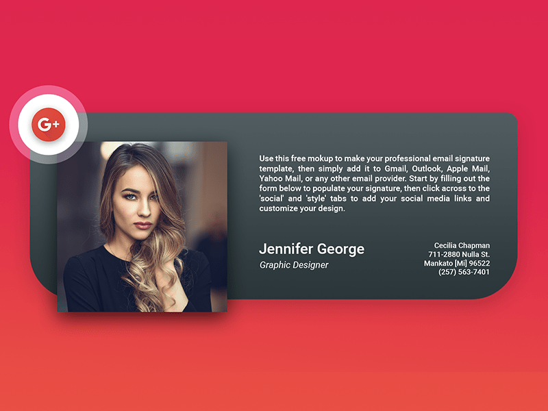 Email signature generator with beautiful, ready to use signature templates. Creative Email Signatures On Behance