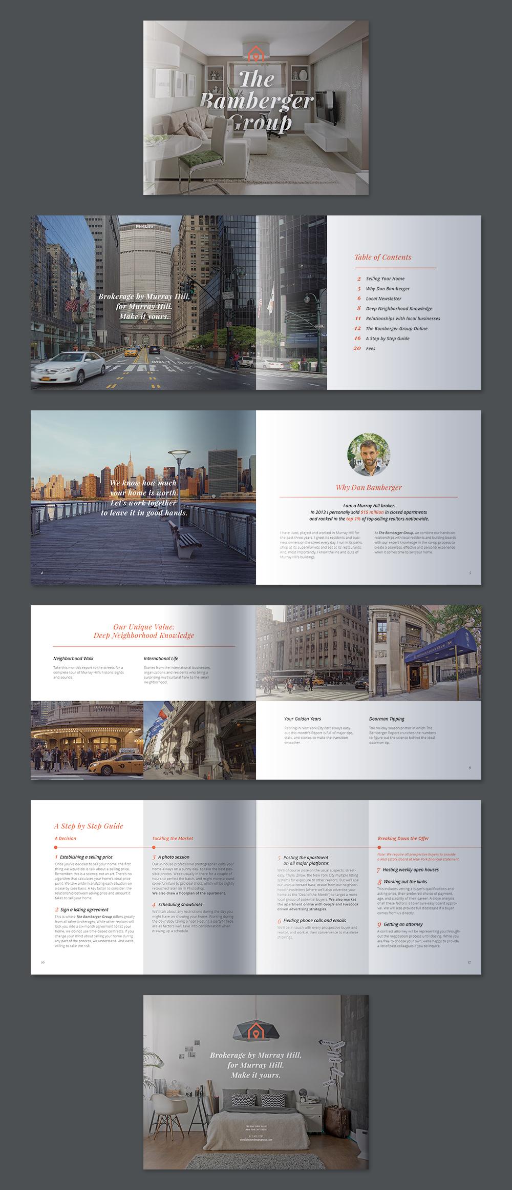 bamberger group realtor agency brochures design