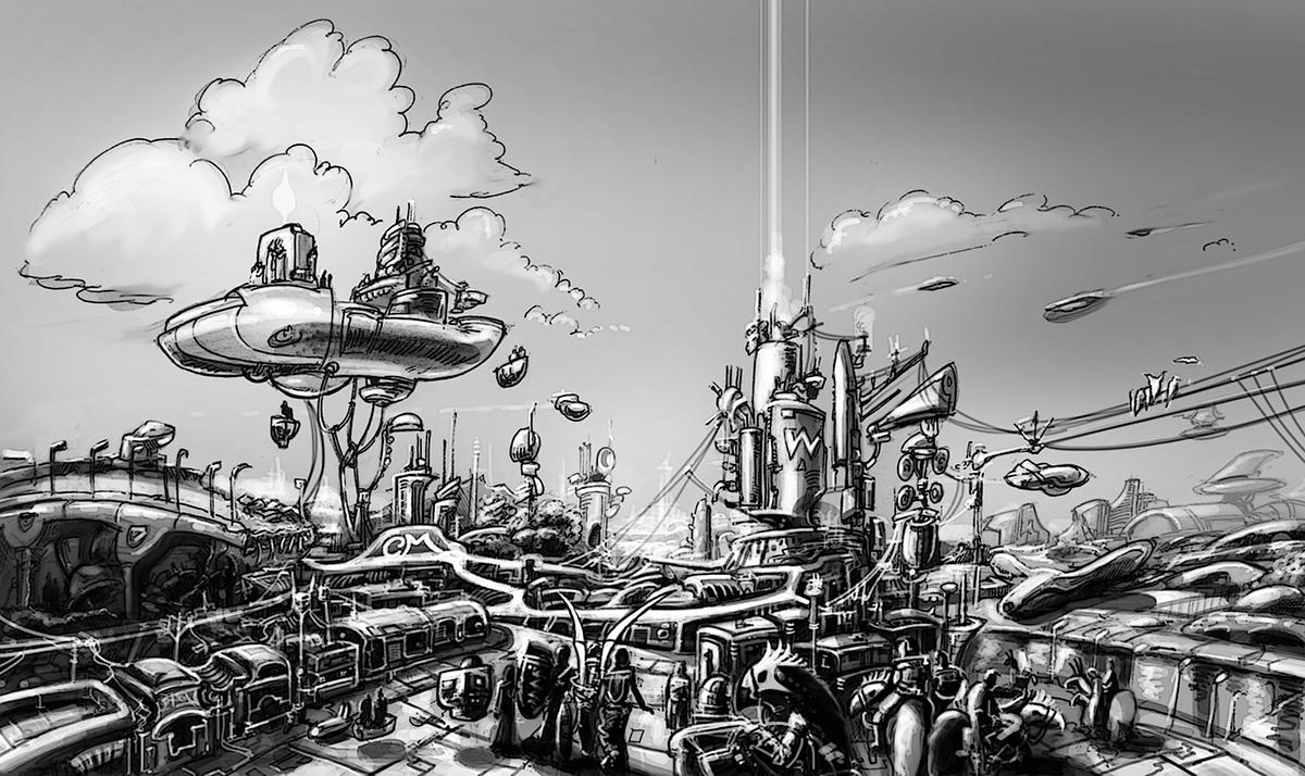 Science Fiction Art On Behance